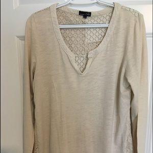 Knit and crochet ladies blouse. Size L